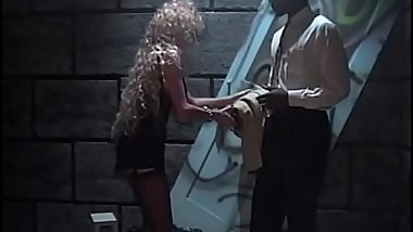 Blonde hooker takes BBC in back alley