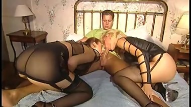Fetish Hotel - guy has nice fuck with two ladies