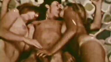 Threesome with Lots of Blowjobs (1960s Vintage)